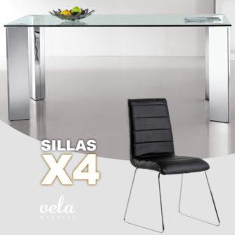 mesa-comedor-y-4-sillas-negras-polipiel