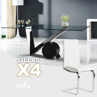 mesa-cristal-4-sillas-polipiel