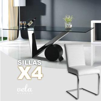 mesa-moderna-cristal-4-sillas-polipiel