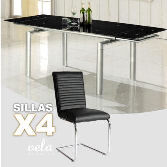 mesa-negra-extensible-y-4-sillas-polipiel