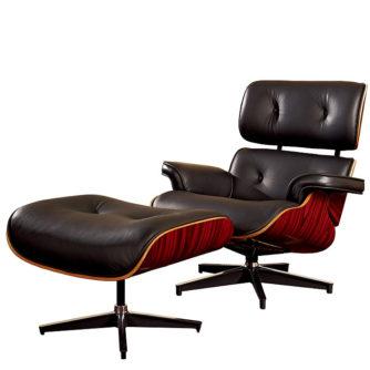 Sillon-lounge-con-otoman-en-piel-negro-1
