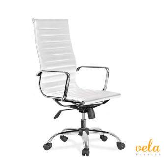 silla-oficina-despacho-director-piel-blanco