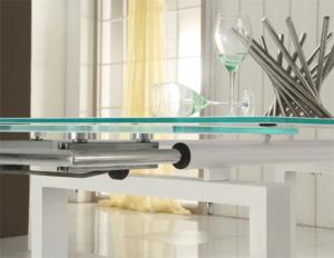 Oferta Conjunto de mesa extensible y sillas polipiel