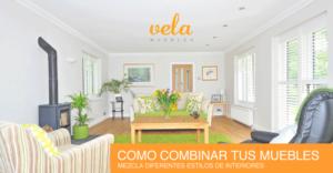 Combinar diferentes estilos de muebles
