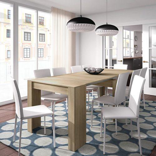 Mesas de comedor redondas extensibles modernas cristal for Mesas comedor extensibles modernas baratas
