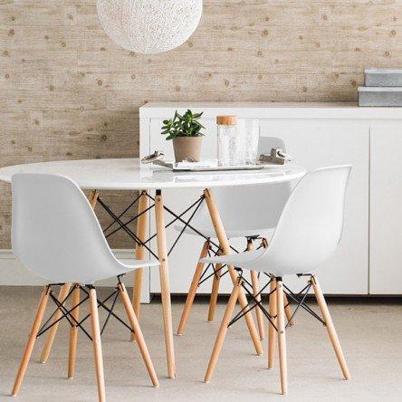 Sillas blancas escritorio