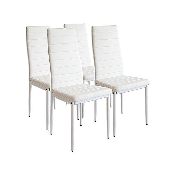 4 sillas blancas con costuras - Vela Muebles