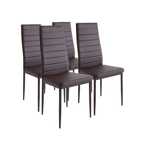 Pack 2 sillas blancas con asiento acolchado estilo for Sillas de montar baratas