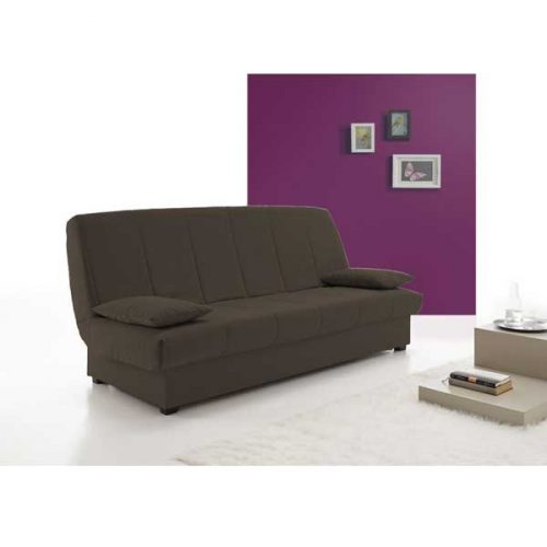Sofa cama apertura libro color chocolate