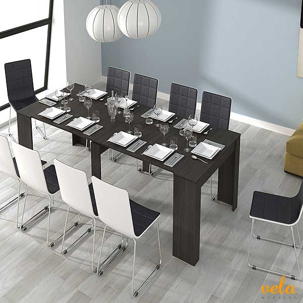 Mesas de comedor online madera cristal extensibles for Mesas comedor extensibles cristal transparente
