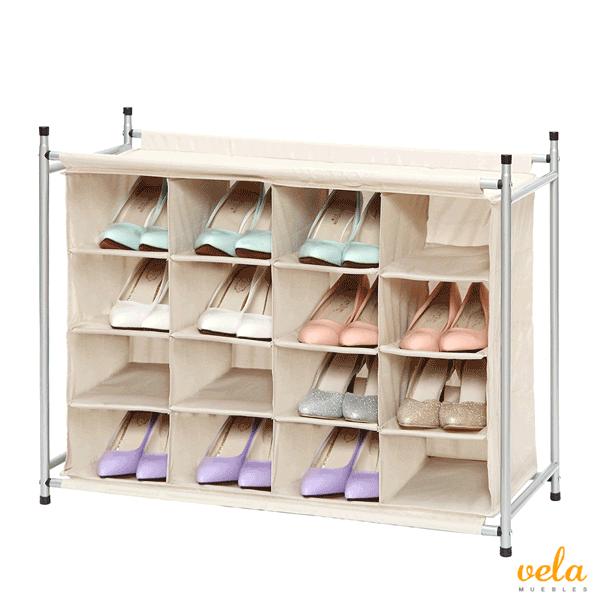 Armario zapatero para 16 pares de zapatos vela muebles for Zapatero para 30 pares de zapatos