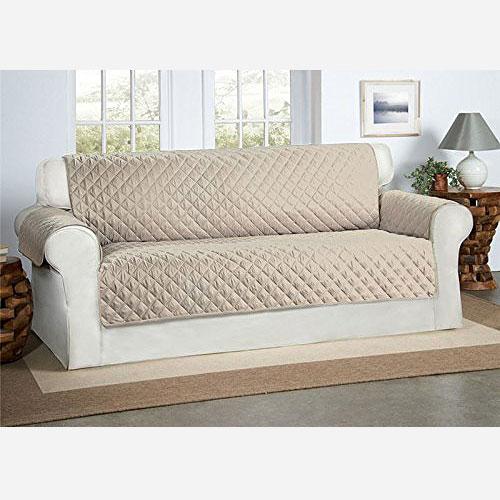 Cubre sofá color beige