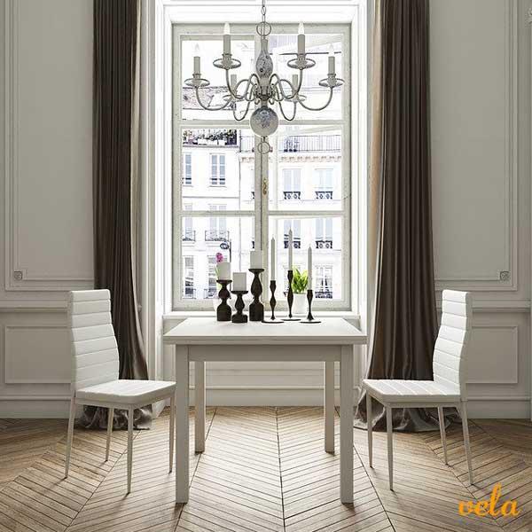 Mesas de comedor online madera cristal extensibles - Mesa cocina cuadrada ...