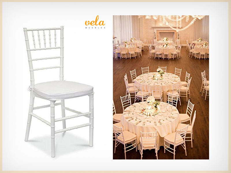 silla transparente de policarbonato Tiffany Chiavari