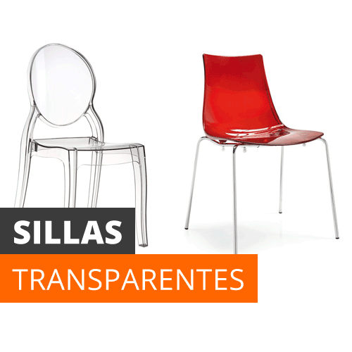 Sillas baratas online comedor oficina transparentes for Sillas transparentes