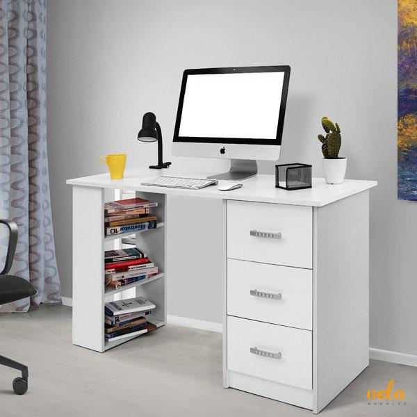 Mesa de escritorio online de oficina en l de ordenador for Escritorio despacho