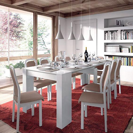 mesas de comedor online madera cristal extensibles