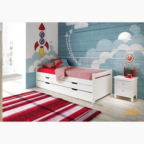 Dormitorio juvenil cama nido