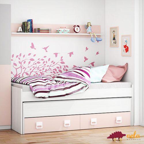 Dormitorios juveniles baratos habitaciones baratas for Cama nido sin cajones