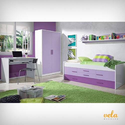 Dormitorios juveniles baratos habitaciones baratas - Dormitorio juvenil completo ...