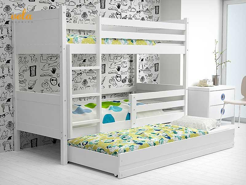 Litera triple 3 plazas con cama nido de venta online