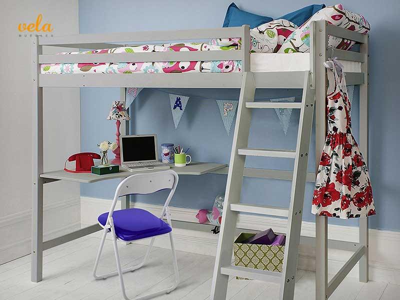 Literas baratas online con escritorio infantiles for Busco una cama barata