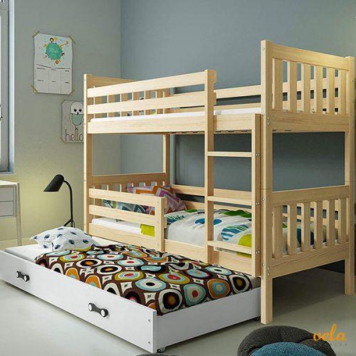 Litera triple infantil con cama nido