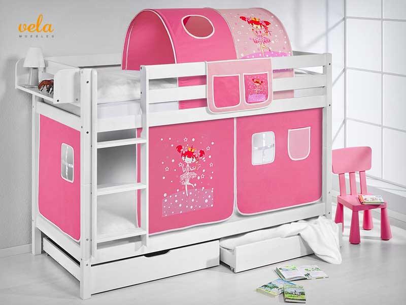 Literas baratas online con escritorio infantiles triples matrimonio - Caballeros y princesas literas ...