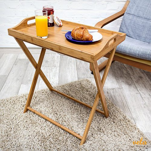 Mesa Auxiliar Plegable Salon Cocina Rinconera Mesita Para Sofa