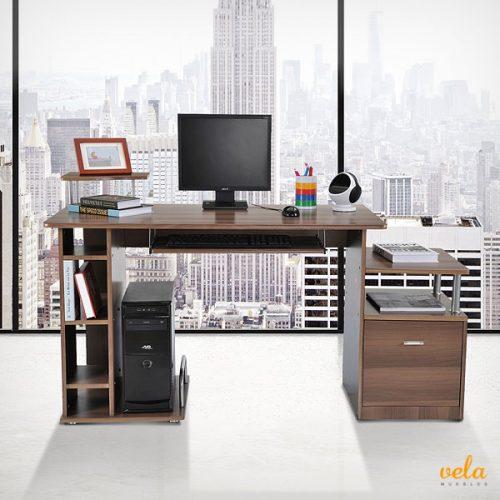 Mesas de escritorio baratas de oficina en l de ordenador pc plegable - Mesas de ordenador de diseno ...