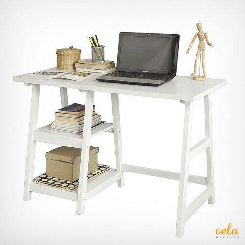Mesa de escritorio ordenador con 2 estantes
