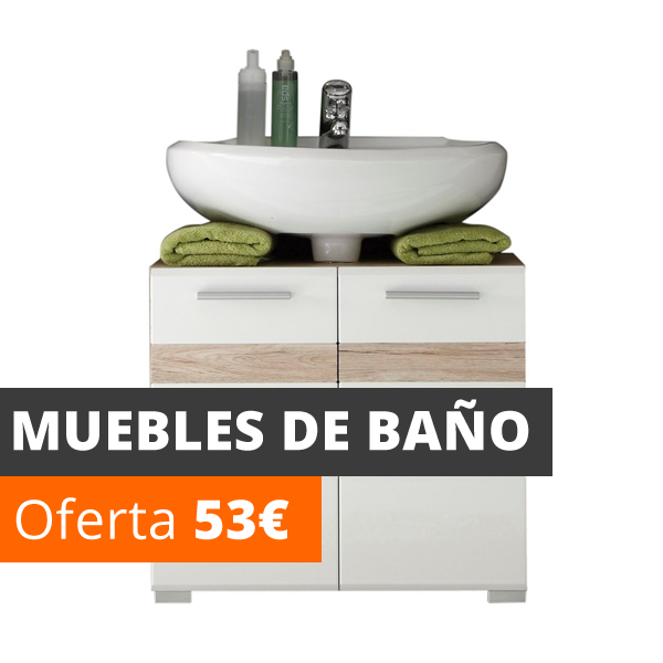 Vela muebles baratos online outlet 1000 muebles low cost for Set de bano baratos