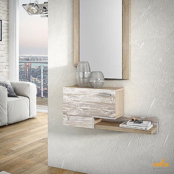 Recibidores online modernos baratos con espejo for Espejos blancos baratos