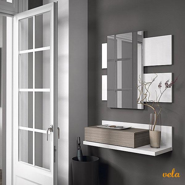 Recibidores online modernos baratos con espejo for Espejos originales recibidor