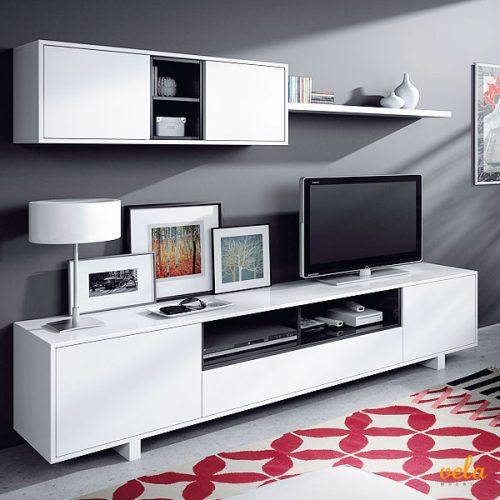 Salón moderno color blanco y negro