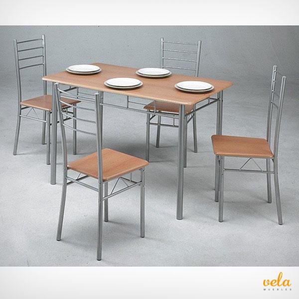 Muebles de cocina baratos online mesas y sillas de cocina auxiliares - Mesas y sillas para cocina ...