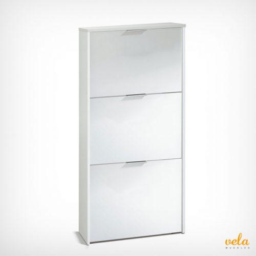 Mueble zapatero baratos online de armario recibidor for Mueble zapatero con puerta de espejo