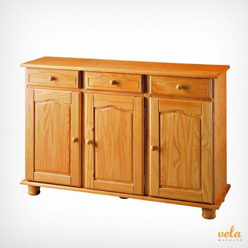Aparador rústico color madera miel