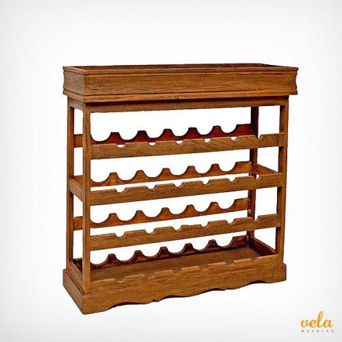 Mueble de madera rústico color marrón oscuro