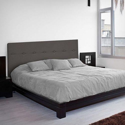 Cabeceros de polipiel baratos cabezal cama blanco capitone gris negro - Cabecero cama acolchado ...