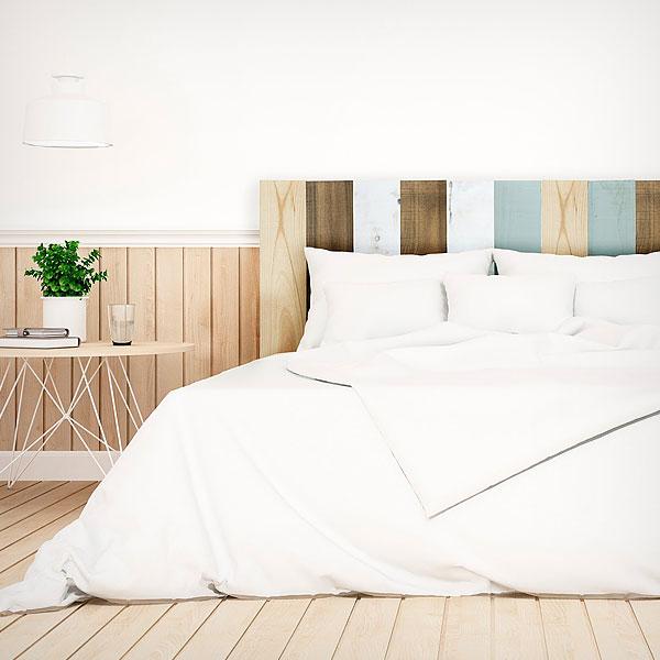 Cabeceros de cama baratos online originales de forja tapizados polipiel - Cabeceros de madera originales ...