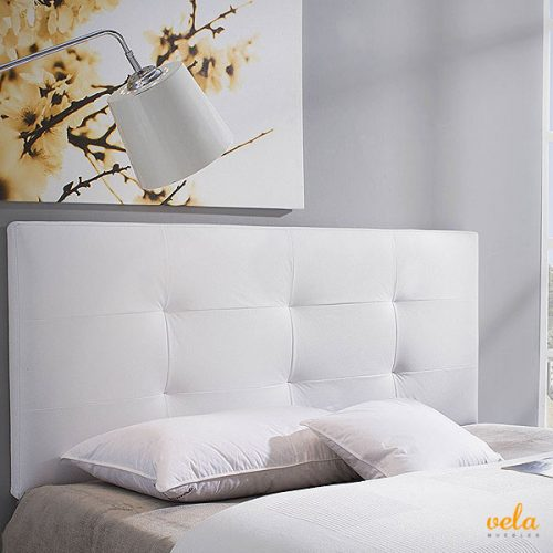 Cabeceros de polipiel baratos cabezal cama blanco - Cabecero capitone blanco ...