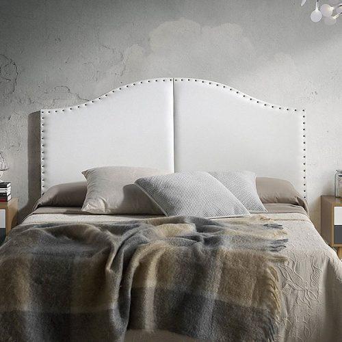 Cabeceros de polipiel baratos cabezal cama blanco capitone gris negro - Cabeceros tapizados con tachuelas ...