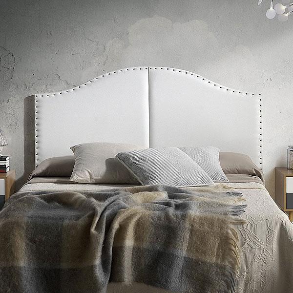 Cabeceros de cama baratos online originales de forja tapizados polipiel - Cabeceros tapizados con tachuelas ...