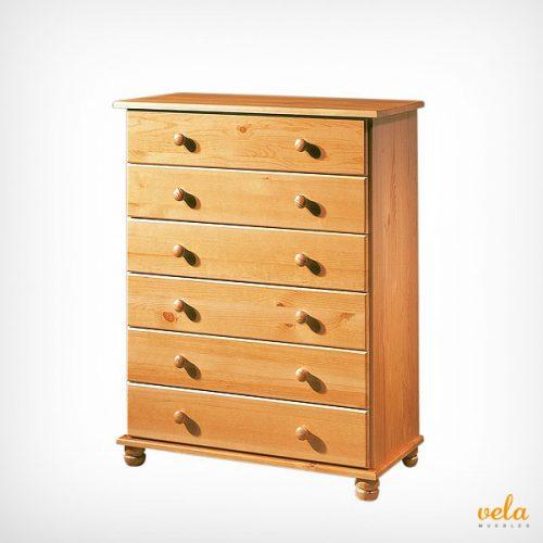 Cómodas rústicas alta color madera miel