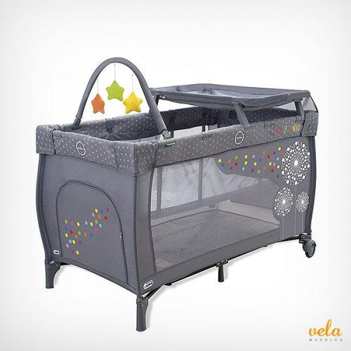 Cuna de viaje transportable con cambiador bolsa y juguetes bebé