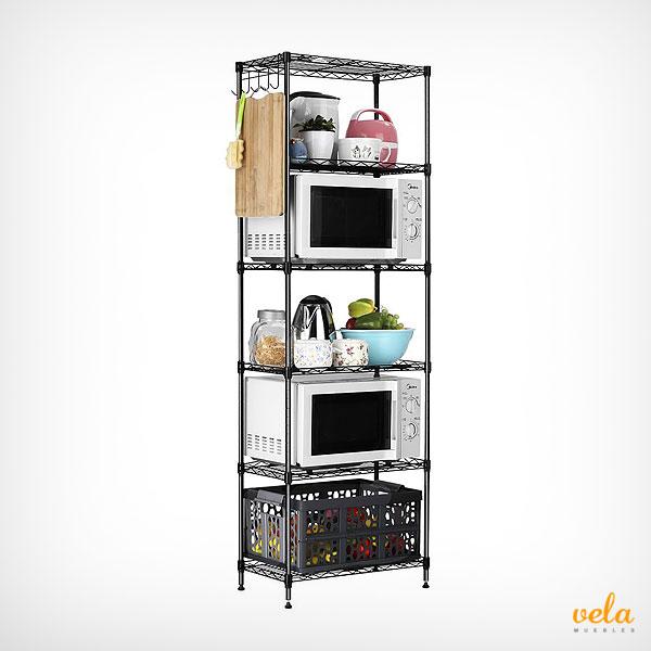 Muebles de cocina baratos online mesas y sillas de for Estanteria auxiliar cocina