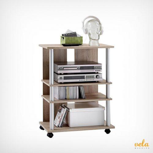 Mueble auxiliar tv y equipo de sonido con ruedas