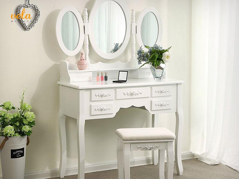 ▷ Tocadores de maquillaje baratos online | Con espejo, luces, moderno