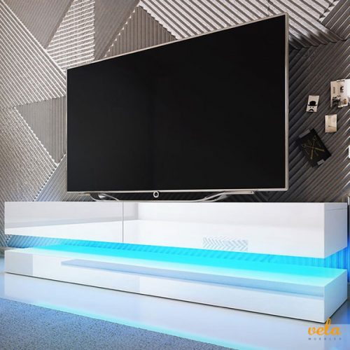 Mueble tv moderno LED color Blanco